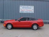 2007 Torch Red Ford Mustang V6 Deluxe Convertible #9452384