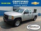 2010 Sheer Silver Metallic Chevrolet Silverado 1500 Extended Cab 4x4 #95868731