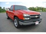 2007 Victory Red Chevrolet Silverado 1500 Classic LS Regular Cab #95868805