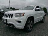 2014 Bright White Jeep Grand Cherokee Overland 4x4 #95989020