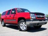 2004 Victory Red Chevrolet Silverado 1500 LS Crew Cab 4x4 #9553794