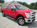 2012 Vermillion Red Ford F250 Super Duty Lariat Crew Cab 4x4 #96086554
