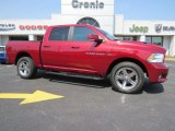 2012 Deep Cherry Red Crystal Pearl Dodge Ram 1500 Sport Crew Cab 4x4 #96125572