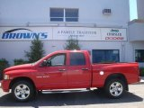2005 Flame Red Dodge Ram 1500 SLT Quad Cab 4x4 #9554058