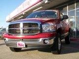 2008 Inferno Red Crystal Pearl Dodge Ram 1500 SLT Quad Cab 4x4 #9564580