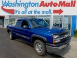 2003 Arrival Blue Metallic Chevrolet Silverado 1500 LS Extended Cab 4x4 #96160353