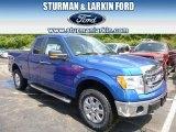 2014 Blue Flame Ford F150 XLT SuperCab 4x4 #96249088