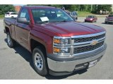 2014 Deep Ruby Metallic Chevrolet Silverado 1500 WT Regular Cab #96290452