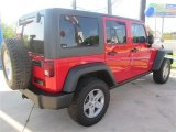 2012 Flame Red Jeep Wrangler Unlimited Rubicon 4x4 #96378899