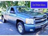 2009 Blue Granite Metallic Chevrolet Silverado 1500 LT Extended Cab 4x4 #96378689