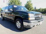 2003 Dark Green Metallic Chevrolet Silverado 1500 LS Extended Cab 4x4 #96378680