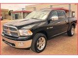 2009 Brilliant Black Crystal Pearl Dodge Ram 1500 Laramie Crew Cab 4x4 #9632117