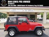 2006 Flame Red Jeep Wrangler SE 4x4 #96507625