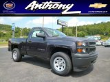 2014 Tungsten Metallic Chevrolet Silverado 1500 WT Regular Cab 4x4 #96545018
