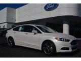 2015 White Platinum Metallic Ford Fusion Titanium #96648702