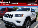 2014 Bright White Jeep Grand Cherokee Limited #96680011