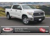 2014 Super White Toyota Tundra SR5 Crewmax 4x4 #96718106