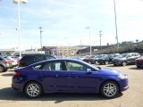 2015 Deep Impact Blue Metallic Ford Fusion SE #96805097