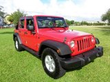 2007 Jeep Wrangler Unlimited Flame Red