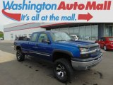 2003 Arrival Blue Metallic Chevrolet Silverado 1500 LS Extended Cab 4x4 #96997726