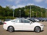 2015 White Platinum Metallic Ford Fusion Titanium #96997704