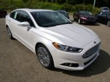 White Platinum Metallic Ford Fusion in 2015