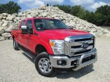 2012 Vermillion Red Ford F250 Super Duty XLT Crew Cab 4x4 #96998113