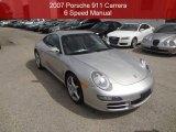 2007 GT Silver Metallic Porsche 911 Carrera Coupe #97075618
