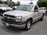 2004 Silver Birch Metallic Chevrolet Silverado 1500 Regular Cab #9700654