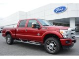 2015 Ruby Red Ford F250 Super Duty Platinum Crew Cab 4x4 #97110463