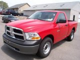 2009 Flame Red Dodge Ram 1500 ST Regular Cab #9695570