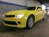 2015 Bright Yellow Chevrolet Camaro LS Coupe #97188623