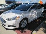 2015 White Platinum Metallic Ford Fusion Hybrid SE #97188575
