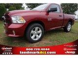 2014 Deep Cherry Red Crystal Pearl Ram 1500 Tradesman Regular Cab #97298954