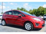 2013 Ruby Red Ford Fiesta SE Hatchback #97323056