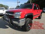 2005 Victory Red Chevrolet Silverado 1500 Z71 Crew Cab 4x4 #97396442