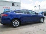 2015 Deep Impact Blue Metallic Ford Fusion S #97430154