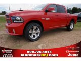 2014 Flame Red Ram 1500 Sport Crew Cab #97500201