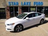 2015 White Platinum Metallic Ford Fusion SE #97562217
