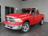2009 Flame Red Dodge Ram 1500 Big Horn Edition Crew Cab 4x4 #9748608