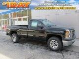 2015 Black Chevrolet Silverado 1500 WT Regular Cab 4x4 #97723628