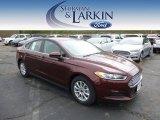2015 Bronze Fire Metallic Ford Fusion S #97745359