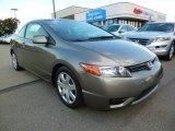 2007 Galaxy Gray Metallic Honda Civic LX Coupe #97745692