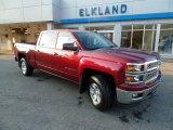 2015 Deep Ruby Metallic Chevrolet Silverado 1500 LT Crew Cab 4x4 #97783801