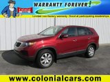 2011 Spicy Red Kia Sorento LX AWD #97784254