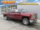 2015 Deep Ruby Metallic Chevrolet Silverado 1500 LT Crew Cab 4x4 #97783793