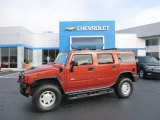 2003 Sunset Orange Metallic Hummer H2 SUV #97824476