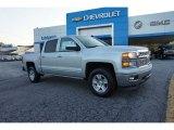 2015 Silver Ice Metallic Chevrolet Silverado 1500 LT Crew Cab #97824621
