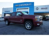 2014 Deep Ruby Metallic Chevrolet Silverado 1500 High Country Crew Cab 4x4 #97824618