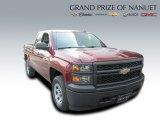 2015 Deep Ruby Metallic Chevrolet Silverado 1500 WT Double Cab 4x4 #97824173